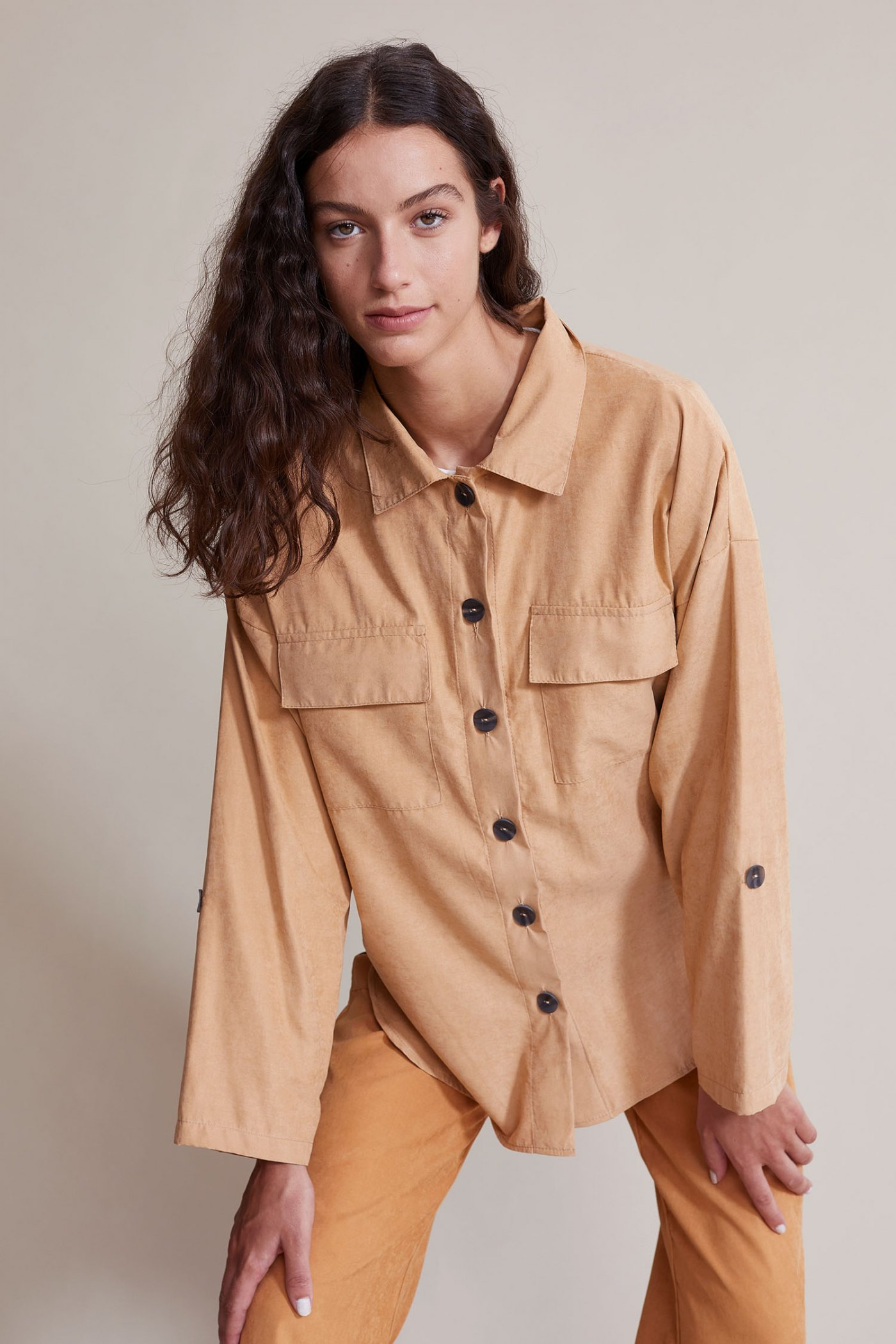 Camisa Bowie Camel