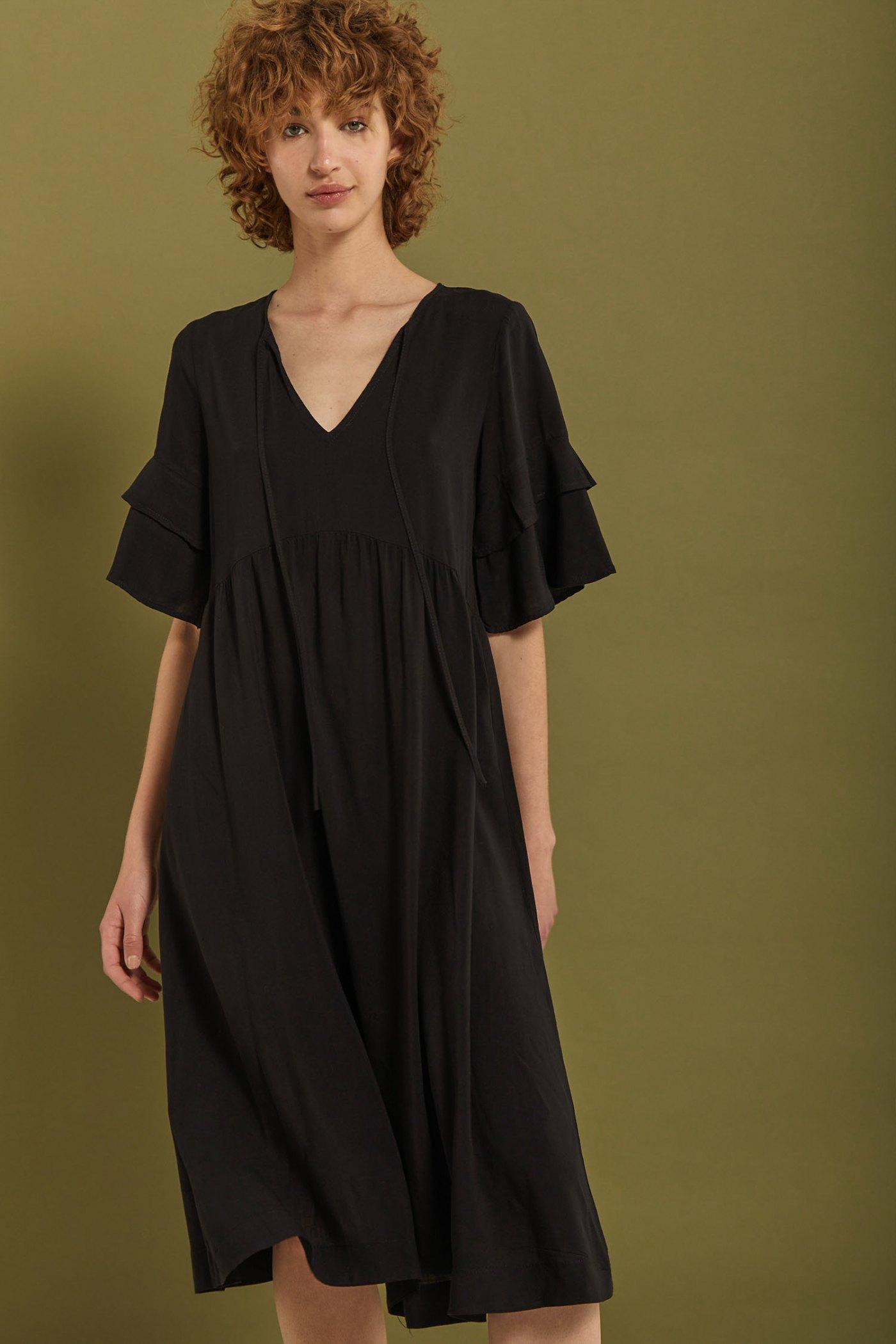 Vestido Ciruela Negro