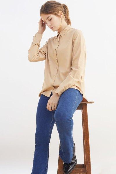 Camisa Gioconda Camel